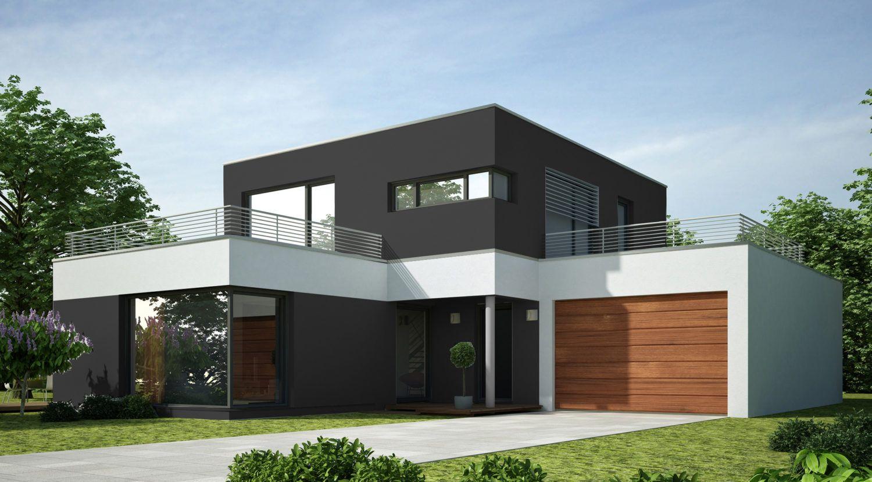 Fassade Gestalten Hausfassade Grau, Moderne Hausfassaden, Fassadenfarbe,  Einfamilienhaus, Moderne Häuser,
