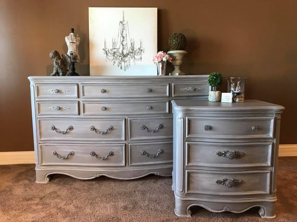 Ascp Paris Gray With White Wash Dressers Furniture Re Do