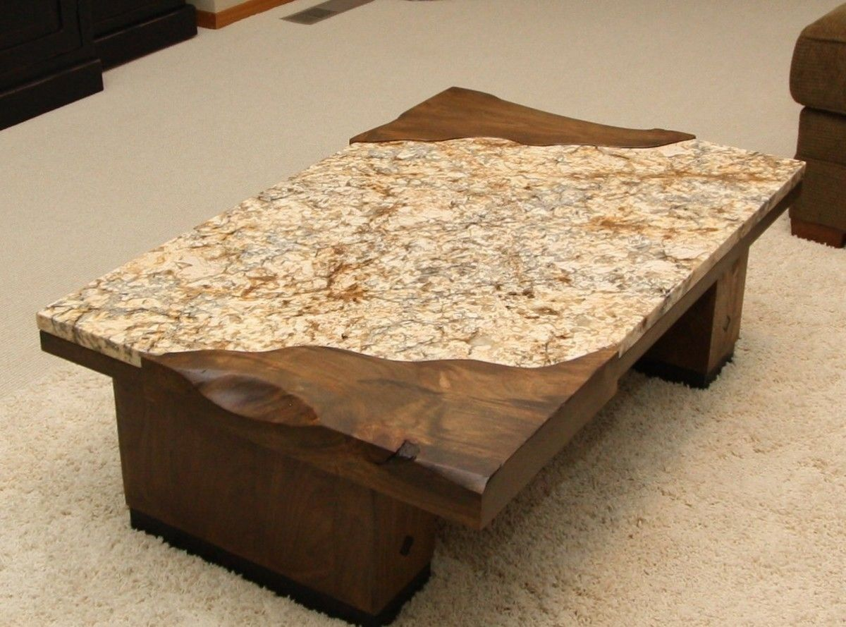 Furniture Desired Granite Coffee Table With Rectangular
