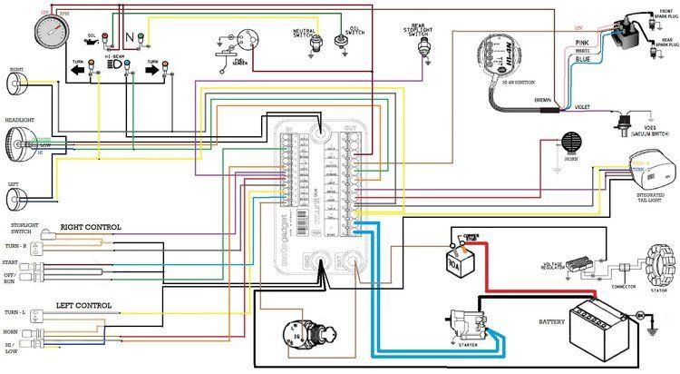 Motogadget M Unit Blue Fxr Division Wiring Diagram Custom Motors Circuit Diagram