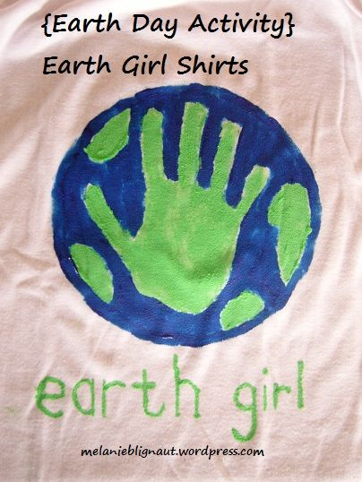 Earth Day Activity Girl Shirts