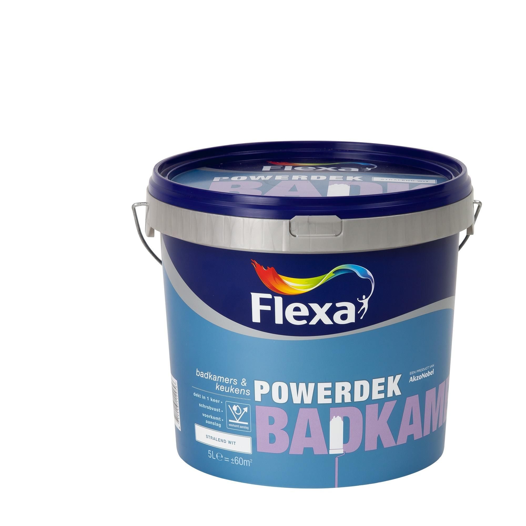 Flexa Powerdek latex Badkamer & Keuken wit mat 5 liter   Gamma ...