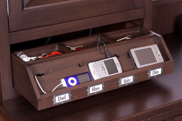 Elegant Multi Device Charging Station Home Office Traditional With Charging Station  Custom