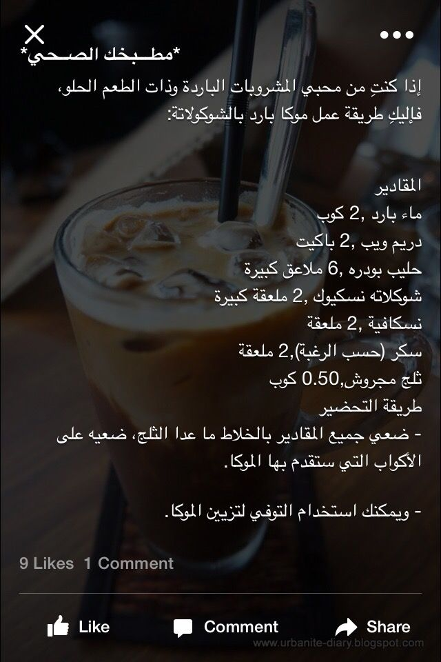 موكا بارد بالشوكولاته Coffee Drink Recipes Starbucks Recipes Tea Recipes