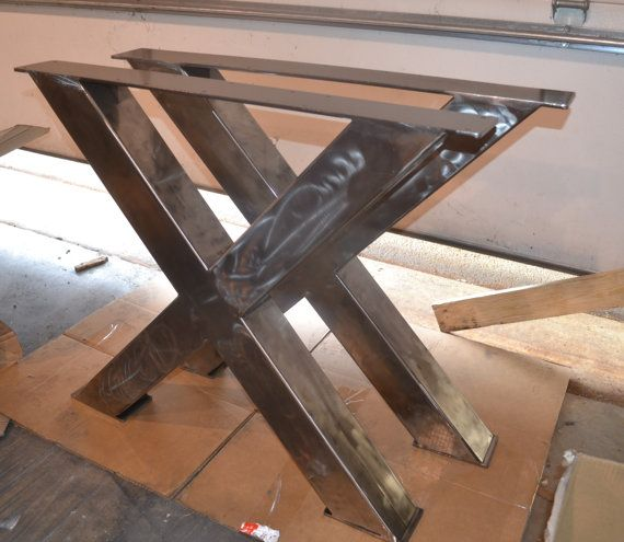 Metal Table Legs, Industrial X-Frame Style - Any Size and Color en ...