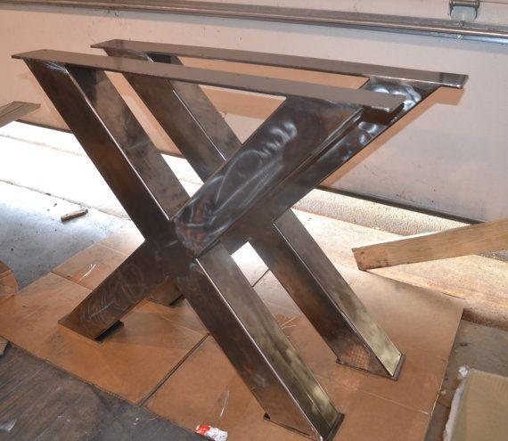 metal table legs industrial x frame