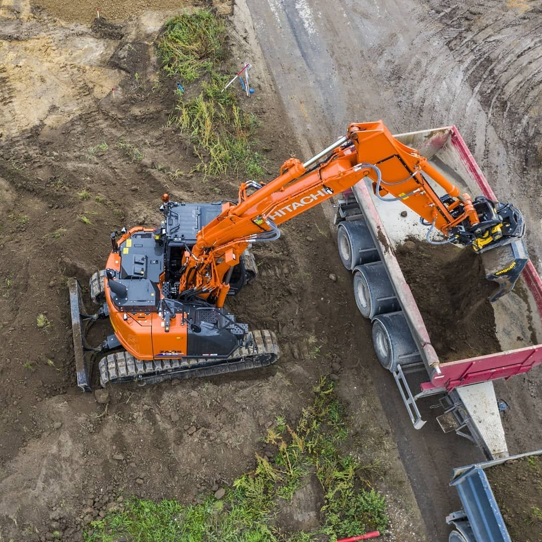 """Hitachi CM Europe on Instagram: """"""""Danish contractor Vejen Entreprise  Kompagni Aps selected this #Hitachi ZX135US-6 after testing three other  #machinery ..."""