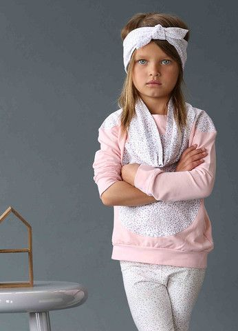 SUNDAY THE LABEL PULLOVER - PINK W GREY/PINK SPRINKLES – Little Bambinos NZ