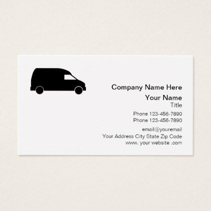 Courier Delivery Van Design Business Card Zazzle Com Business Card Design Van Design Business Design