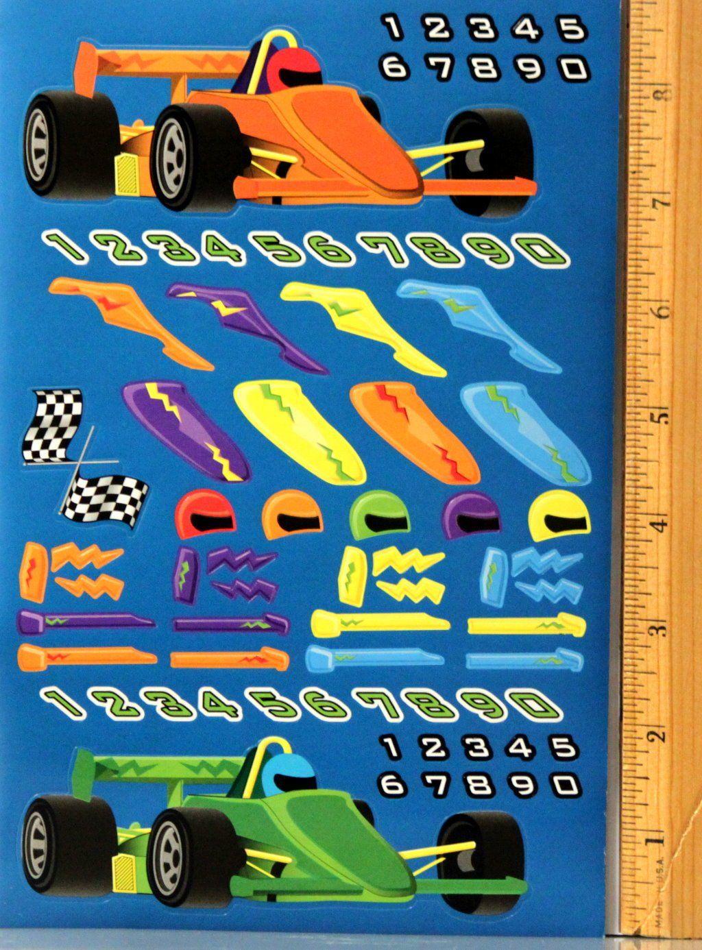 Nicole Crafts Custom Cars Blue Sticker Sheet
