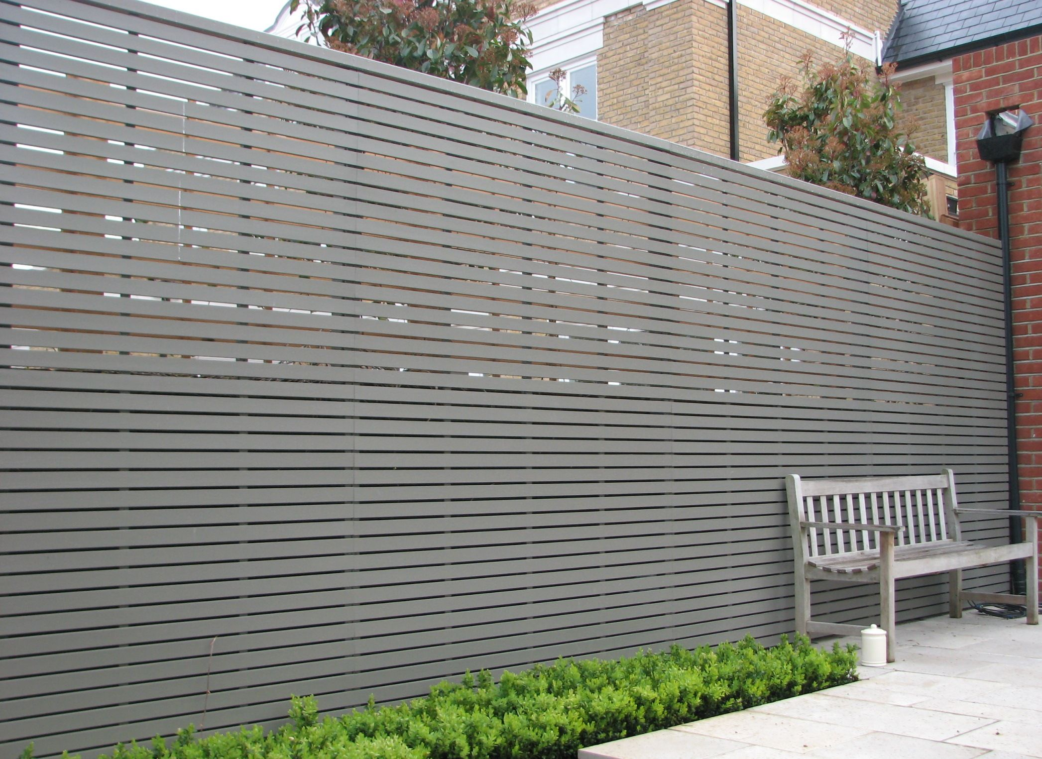Image Of Privacy Garden Fence Panels Contemporary Garden