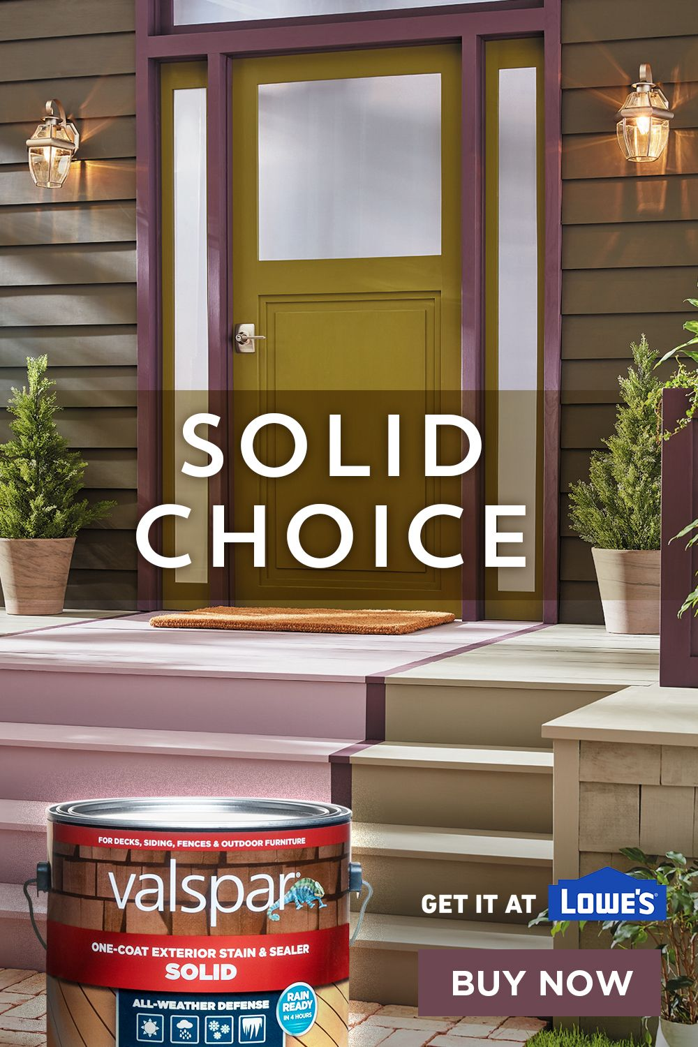 You Want A Solid Deck Stain But You Don T Want The Same Old Look Valspar Stain Has You Covered With Any Color Deck Stain Colors Staining Deck Exterior Stain