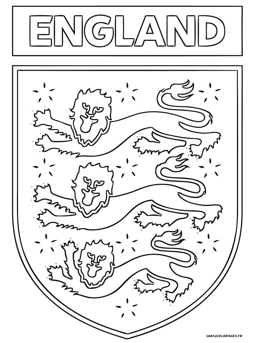 Logo football d 39 angleterre euro 2016 pinterest logo - Drapeau angleterre coloriage ...