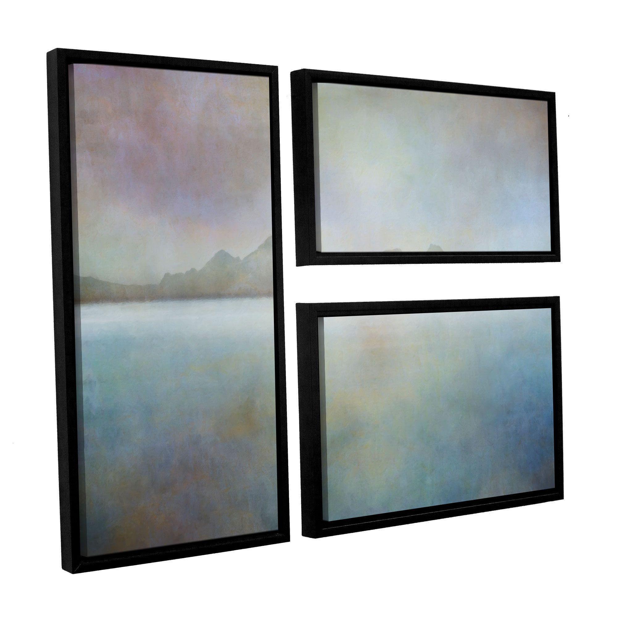 ArtWall 'Cora Niele's Landscape Iceland Westman' 3-piece Floater Framed Flag Set