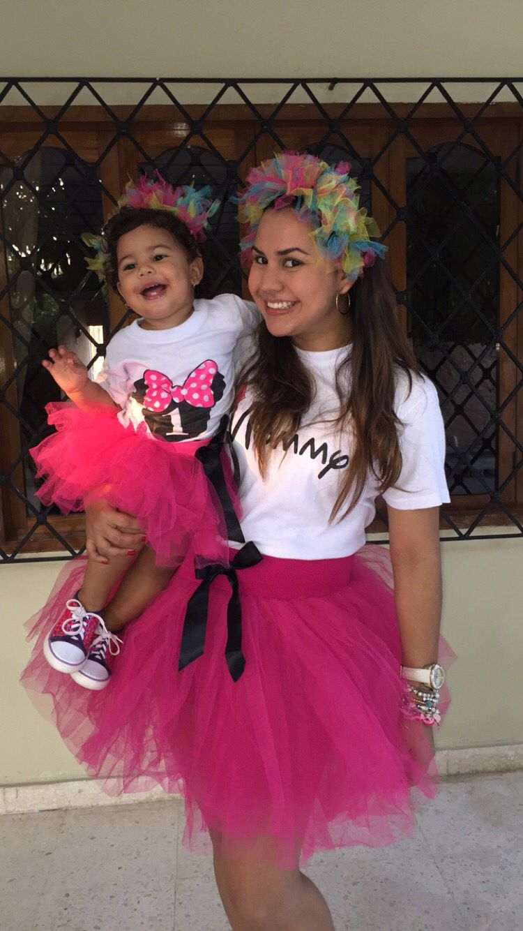 Adult Tutu Mom and me Disney Shirts Family outfits Family Look Tutu set mother daughter Mommy and me Minnie Mouse Birthday Tutu Outfits