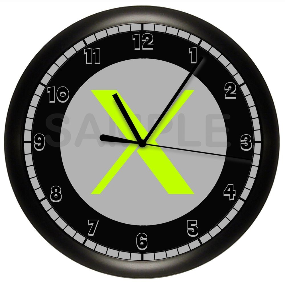 Details About Xbox Wall Clock Neon Gift Decor Game Gaming