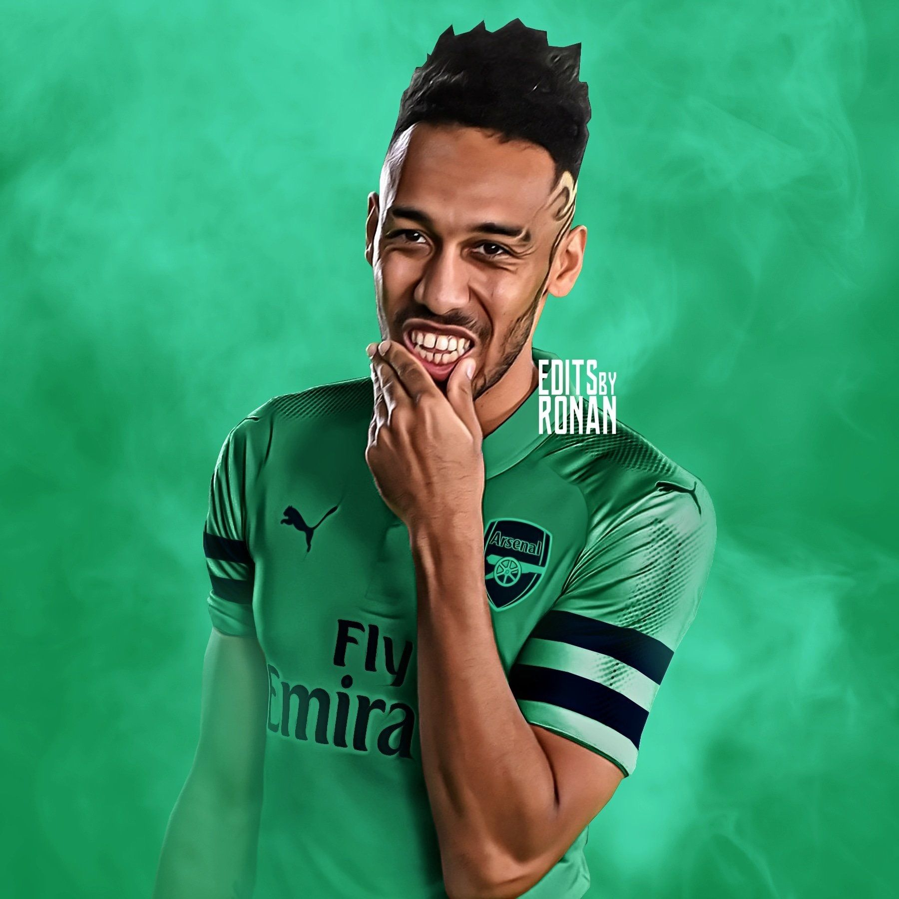 da5f616a8 Arsenal s Pierre-Emerick Aubameyang Credit To  EditsByRonan On Twitter Go  Check Them Out !  art  wallpaper  football  soccer  footballart  arsenal ...