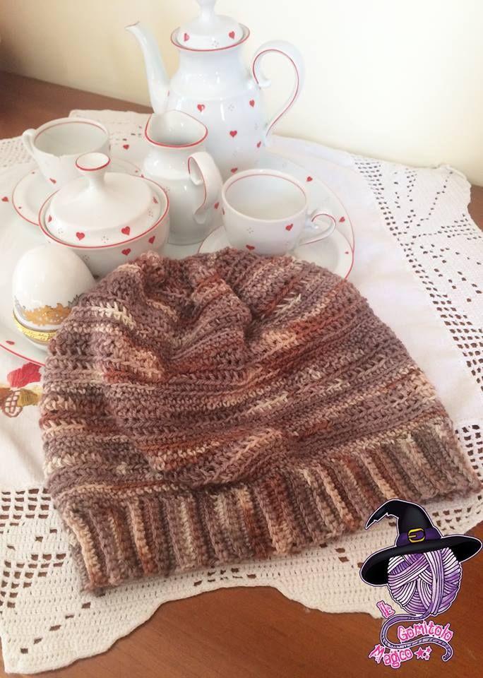 Brown hat crochet  b0a154b78f62