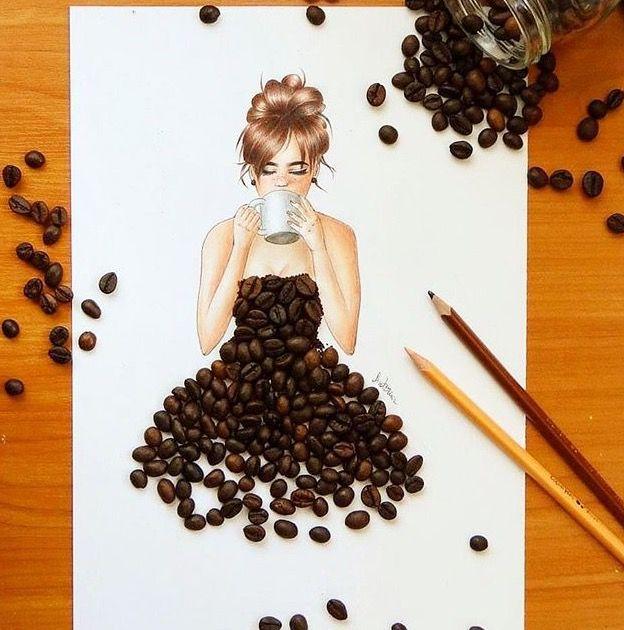Kaffebohnen Kleid