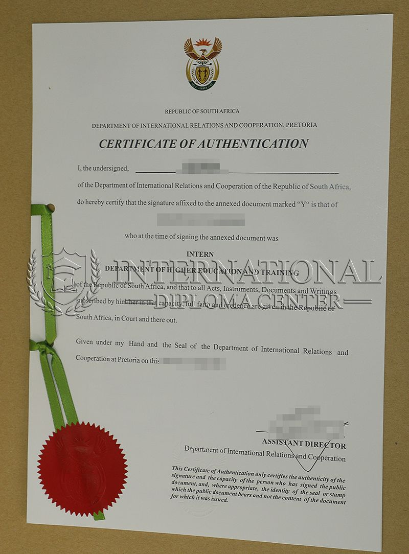 Buy Authentication certificate in South Africa, buy degree