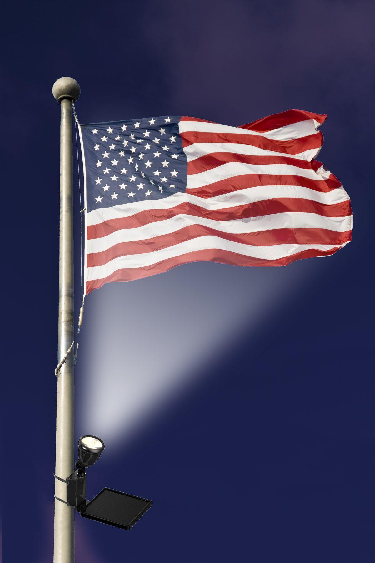 Solar Ed Led Flag Light Flagpole