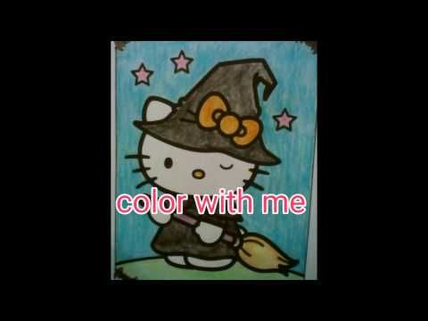 hello kitty halloween coloring page color with me - YouTube - best of coloring pages hello kitty birthday