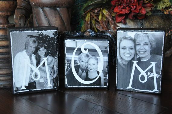 Set of 3-Beautiful and personalized photo blocks / Great for Mother of the Bride, Mother of the Groom gifts / Birthday gift on Etsy, $18.00