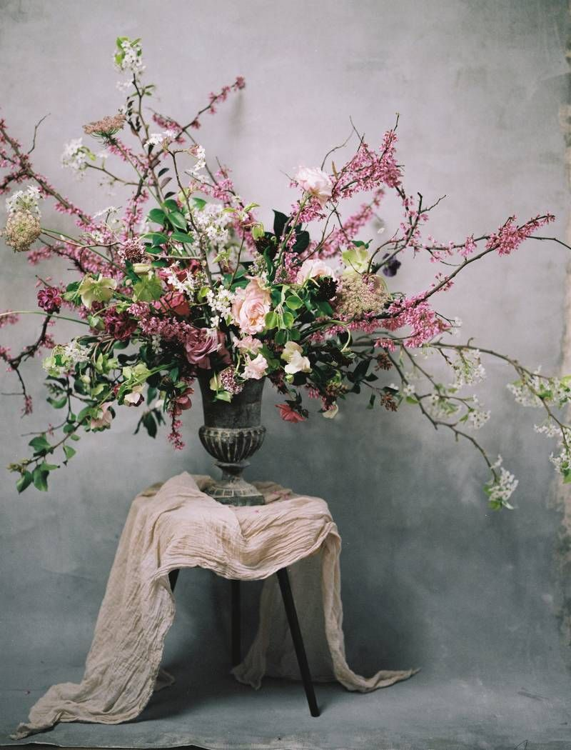 Indoor wedding ideas with rich moody colors on Magnolia Rouge. Floral +  Design: The