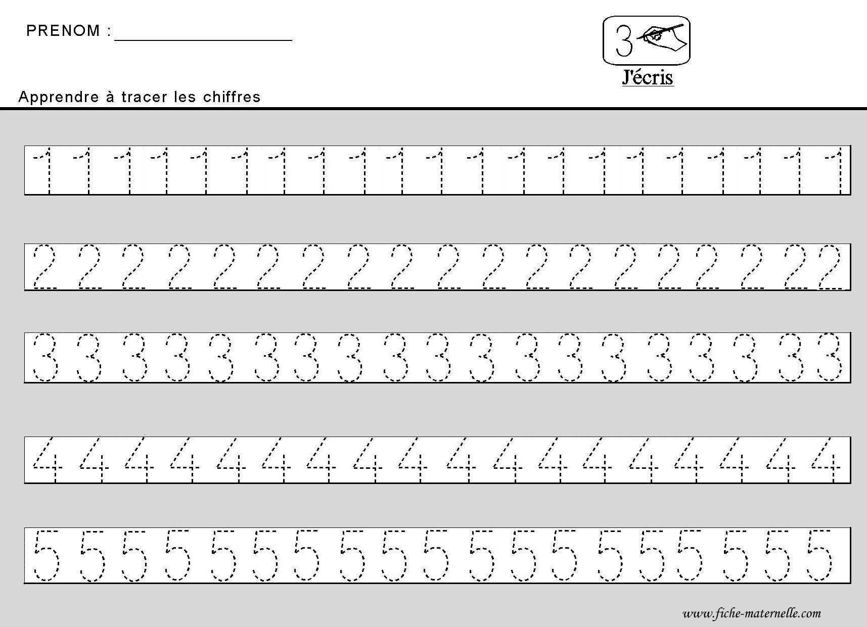 Site maternelle apprendre tracer des chiffres en - Addition grande section ...