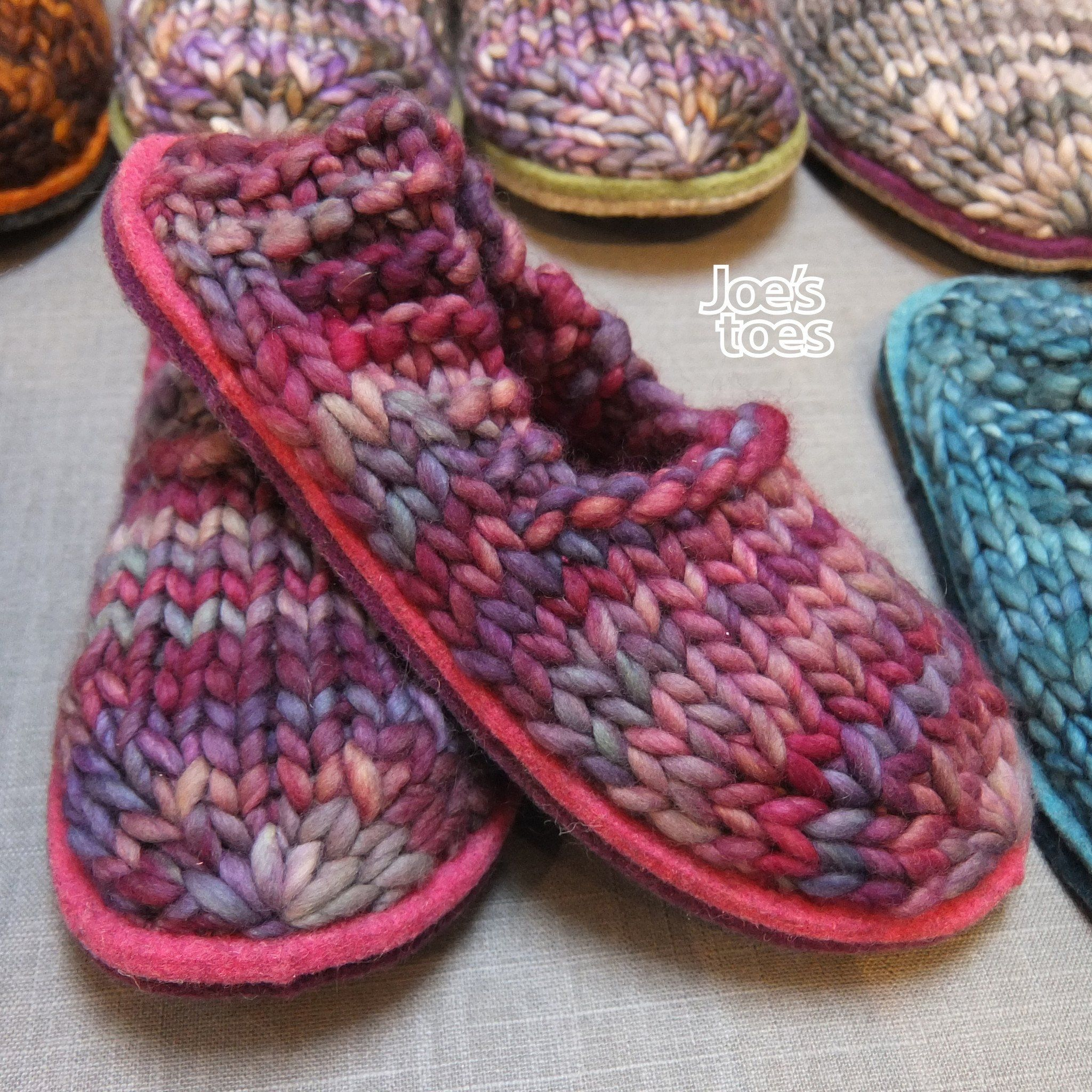 a67409f051462 The Sam slipper is a simple unisex style. This version of the kit for your  own yarn and knitting pins. You will need approximately 7ounces of YOUR OWN  yarn ...