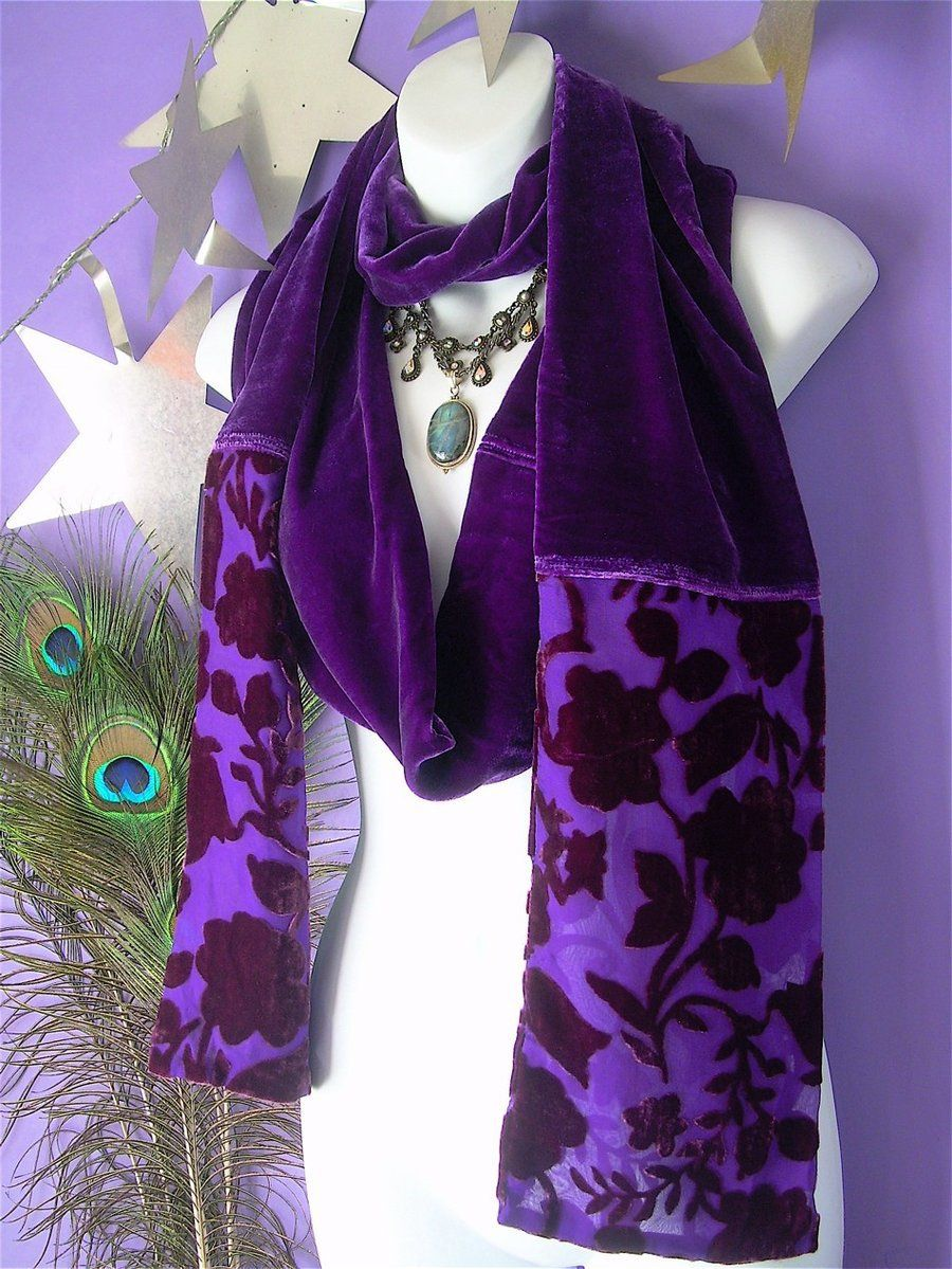 Ultra Violet Velvet Scarf by MimiMadlight13 on DeviantArt