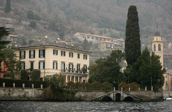 George Clooney Lake Como Italy Lago Como Italia George Clooney Casa De Famosos