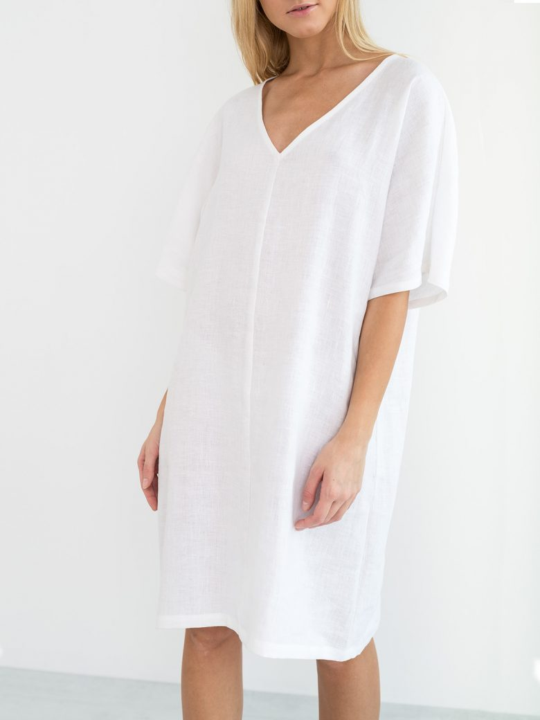 PEONY Linen Tunic Dress - Love and Confuse