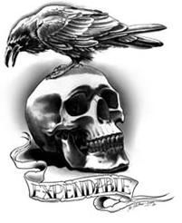 expendables tattoo yup people are getting them with a different saying underneath goth and. Black Bedroom Furniture Sets. Home Design Ideas