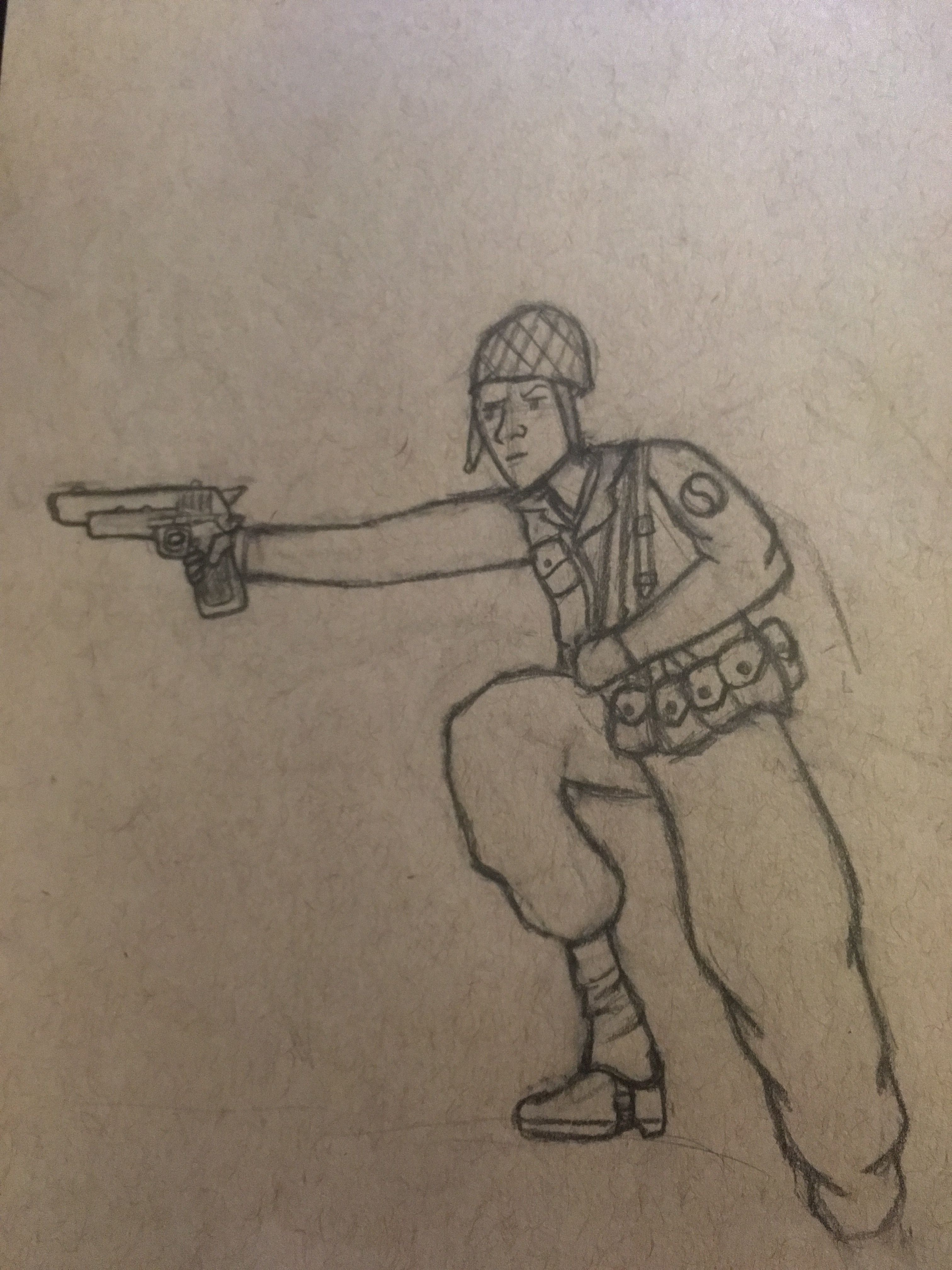 A Ww2 American Soldier Drawing I Did Ww2 Americansoldier Dontaee