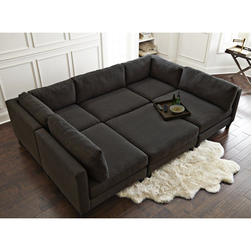 Chelsea 120 Symmetrical Modular Sectional With Ottoman Modular Sectional Sectional Bed Sectional