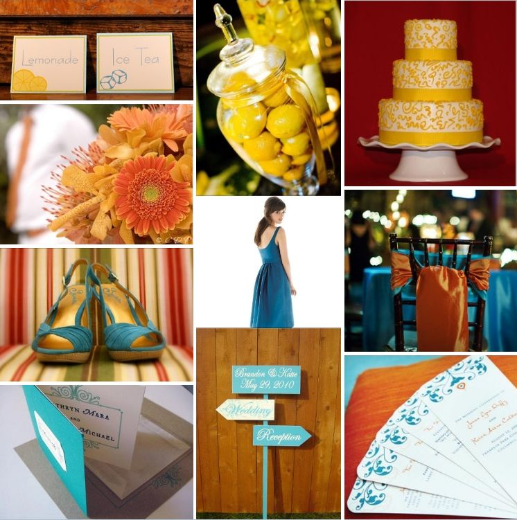 Inspiration Boards, Weddings, Yellow, Blue, & Tahiti Gold ...