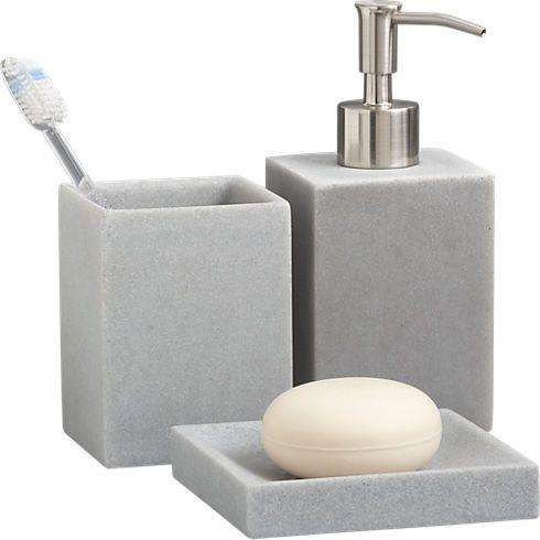 Stone Resin Bath Accessories In Bath Accessories Cb2 Bath