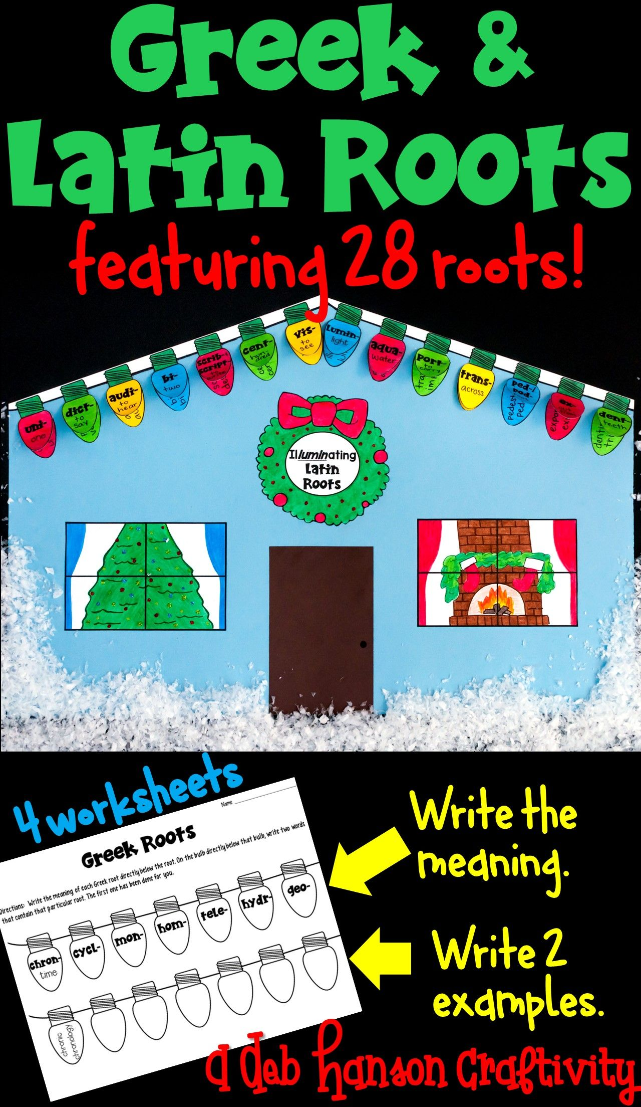 Greek and Latin Roots Holiday Craftivity | Pinterest | Roots ...