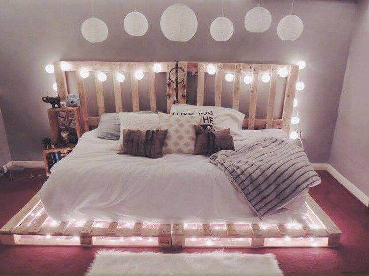 Amazing Ideas For Recycling Old Wood Pallets Bedroom Design Apartment Decor Bedroom Diy