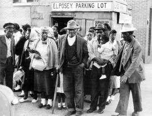 Freedom Walkers Carpool Mongtomery Alabama Bus Boycott 1955