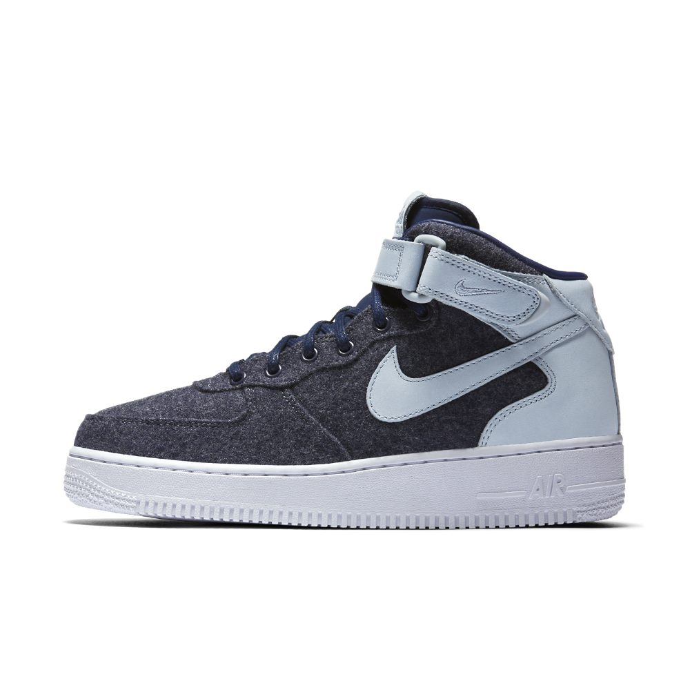 on sale 7c4f9 d5ab1 Nike Air Force 1 07 Mid Leather Premium Women s Shoe Size 6.5 (Blue) -  Clearance Sale