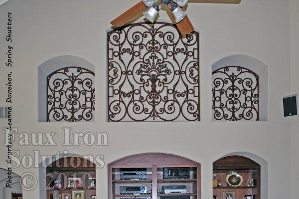 Faux Wrought Iron Niche Insert Idea For My Vaulted Living Room