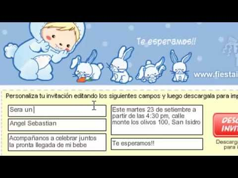 Tarjetas De Invitación Virtual Para Baby Shower Imagui