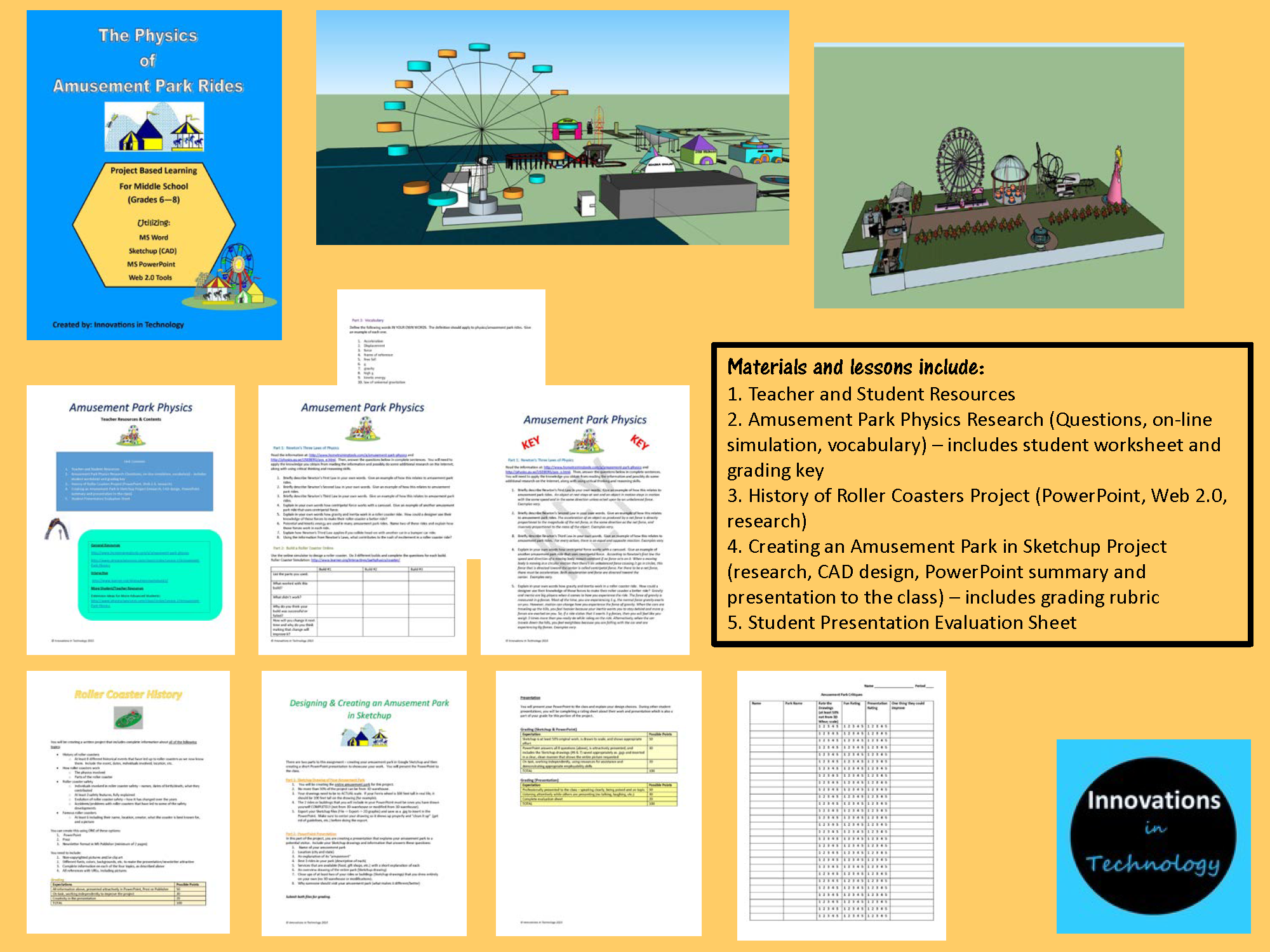 Distance Time Worksheet Pdf The Physics Of Amusement Park Rides  Amusement Park Rides  Year 8 Grammar Worksheets Pdf with Identify Angles Worksheet Pdf Physics Of Amusement Parks Project Based Learning For Middle School   Secondary To Research Percents And Fractions Worksheets Excel
