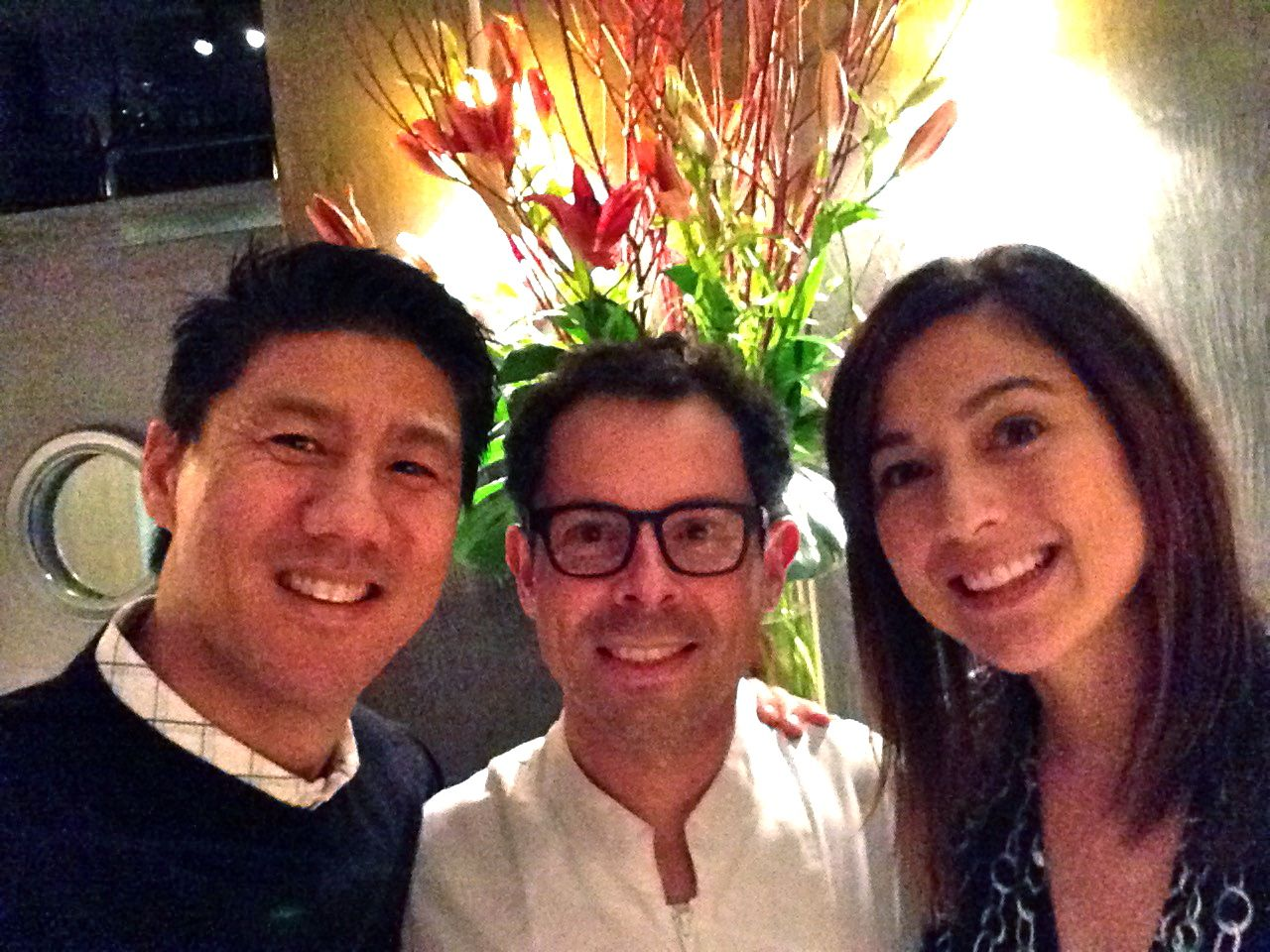 3 star Michelin megachef, Pascal Barbot from L'Astrance, with David and Patricia Chao