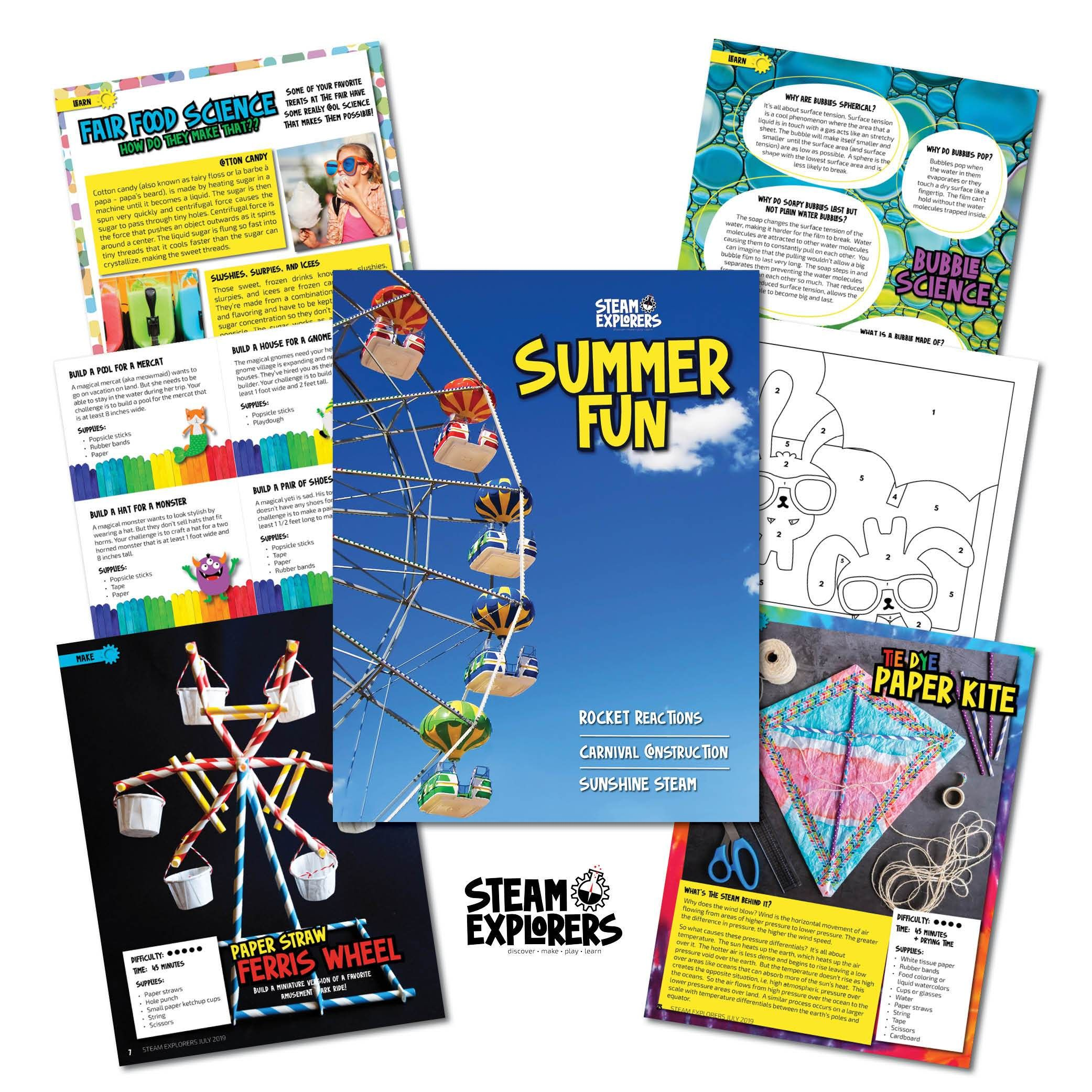 Four Seasons Ebook Bundle (Spring, Summer Fun, Fall, Winter) by STEAM Explorers