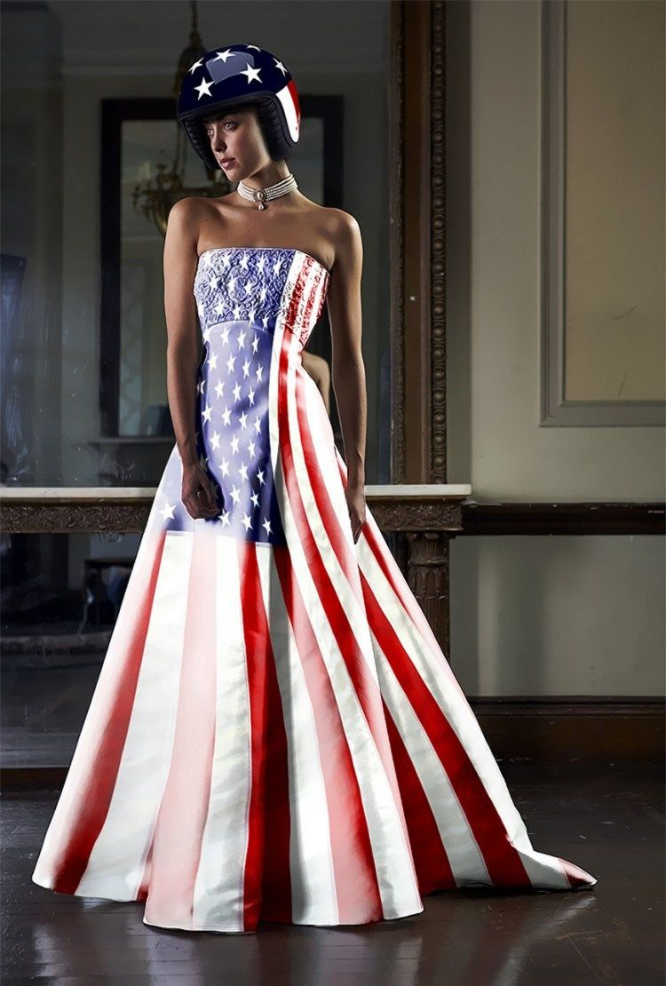 Oh No They Didn T The American Flag As Formal Wear American Flag Dress Ball Gowns Gowns