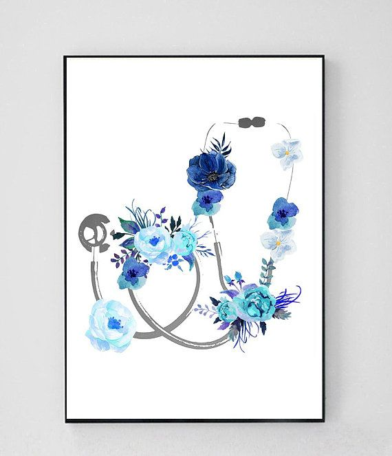 Medical Wall Art, Graduation Medical School, Doctor Wall Art, Medical Student Gift, Doctor Office Decor, Gift for Doctor, Stethoscope Print