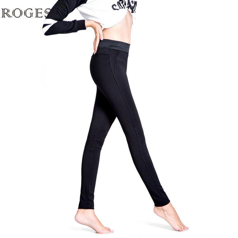 5c0af19bc2c67 2017 Femmes Leggings Maigre Chaud Bas Tricot eacute  Pantalon Taille Haute  Entra icirc nement Mince V ecirc tements De Sport de Haute Qualit eacute   Solide